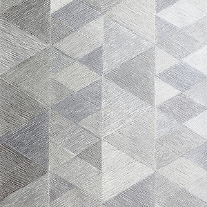 Arthouse Luxe Triangle Silver Wallpaper 10.05m x 53cm