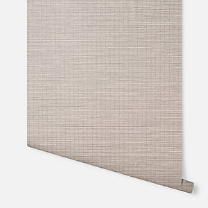 Arthouse Oasis Grasscloth Taupe Wallpaper 10.05m x 53cm