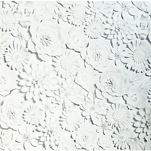 Arthouse 3D Flower Wall White Wallpaper 10.05m x 53cm