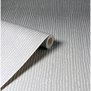 Arthouse Connection Dotty Grey Wallpaper 10.05m x 53cm