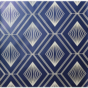 Arthouse Glitter Diamond Navy & Gold Wallpaper 10.05m x 53cm