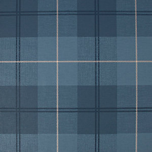 Superfresco Easy Heritage Tweed Check Navy Wallpaper 10m