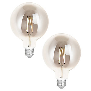 4lite WiZ Connected LED SMART E27 Filament Tuneable Light Bulb 2 Pack