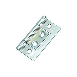 Wickes Flush Hinge - Chrome 38mm Pack of 2