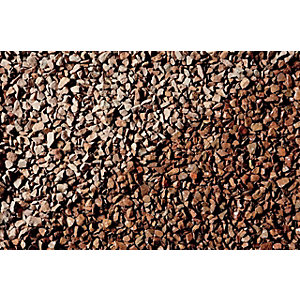 Image of Wickes Cumbrian Red Natural Stone Chippings - Major Bag