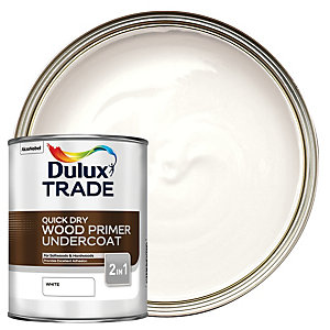 Dulux Trade Quick Dry Wood Primer & Undercoat Paint - White 1L