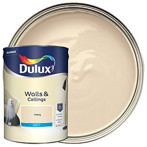 Dulux - Ivory - Matt Emulsion Paint 5L