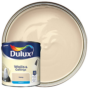 Dulux - Ivory - Matt Emulsion Paint 2.5L
