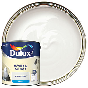 Dulux - White Cotton - Matt Emulsion Paint 2.5L