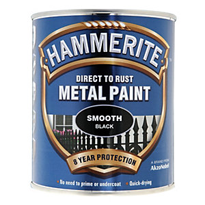 Hammerite Metal Paint - Smooth Black 750ml