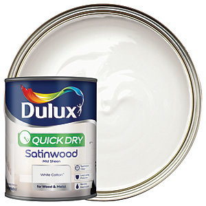 Dulux Quick Dry Satinwood Paint - White Cotton 750ml