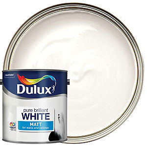 Dulux - Pure Brilliant White - Matt Emulsion Paint 2.5L