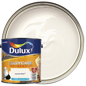Dulux Easycare Washable & Tough - Jasmine White - Matt Emulsion Paint 2.5L