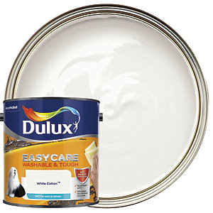 Dulux Easycare Washable & Tough - White Cotton - Matt Emulsion Paint 2.5L