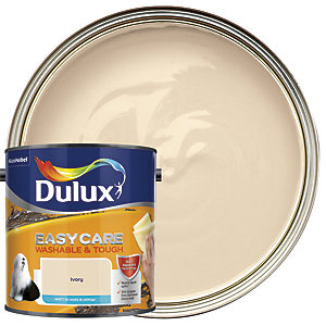 Dulux Easycare Washable & Tough - Ivory - Matt Emulsion Paint 2.5L