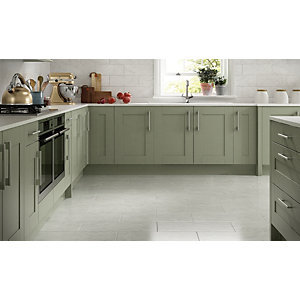 Wickes Azzara Grey Ceramic Wall & Floor Tile - 600 x 300mm