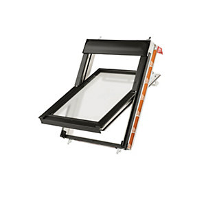 Keylite White Polyurethane Centre Pivot Roof Window with Frosted Glazing
