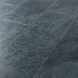 Wickes Mustang Slate Tile Effect Laminate Flooring - 2.5m2 Pack