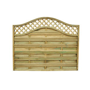Forest Garden Pressure Treated Bristol Fence Panel - 6x5ft Multi Packs