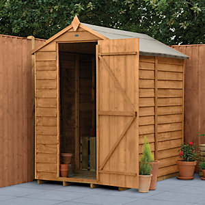 Forest Garden 6 x 4ft Windowless Overlap Apex Dip Treated Shed