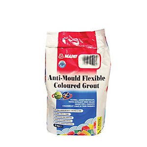 Image of Mapei Anti-Mould Flexible Coloured Tile Grout Grey 5kg