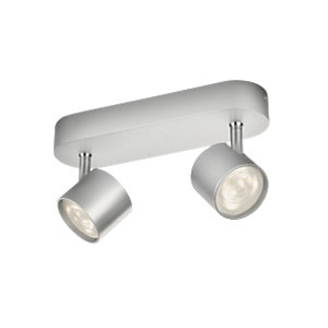 Philips Star LED Aluminium 2 Bar Spotlight - 2 x 3W