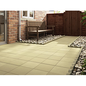 Marshalls Richmond Smooth Buff Paving Slab 450 x 450 x 32 mm