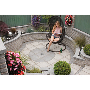 Marshalls Argent Smooth Dark Grey Paving Slab 400 x 400 x 38 mm - 9.6m2 pack