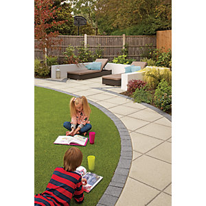Marshalls Saxon Textured Natural Paving Slab 300 x 300 x 35 mm - 5.4m2 pack