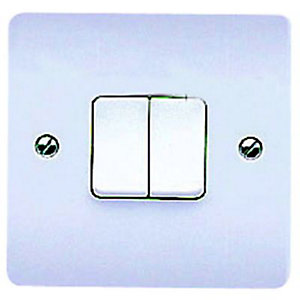 MK K4872PPK 10A Light Switch 2 Gang 2 Way