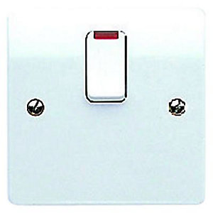 MK 20 Amp Neon Switched Flex Outlet - White