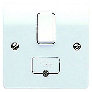 MK 13 Amp Fused Switched Connection Flex Unit - White