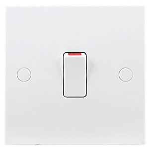 BG 20A Double Pole Control Switch White