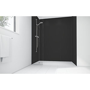 Mermaid Black Matt Acrylic Shower Single Shower Panel