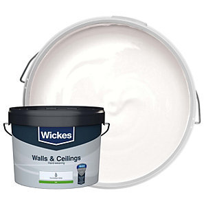 Wickes Colour @ Home Vinyl Silk Emulsion Paint - Brilliant White 10L