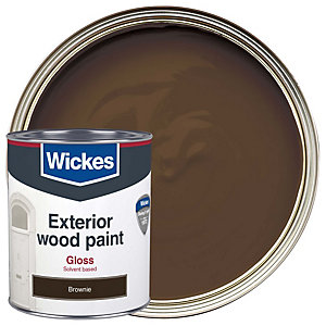 Wickes Exterior Gloss Brownie 750ml