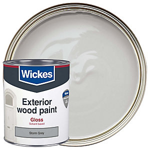 Wickes Exterior Gloss Storm Grey 750ml