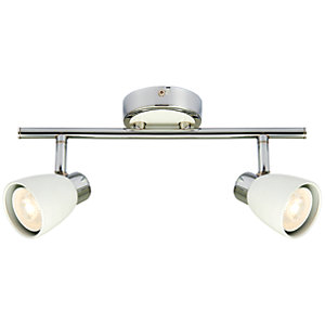 Wickes Major LED White & Chrome 2 Bar Spotlight - 2 x 4.8W