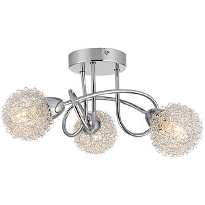 Wickes Totas LED Brushed & Polished Chrome 3 Bar Spotlight - 2.7W