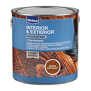 Wickes Woodstain - Brown Mahogany 2.5L