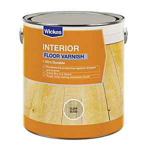 Wickes Floor Varnish - Clear Gloss 2.5L