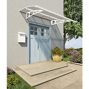 Palram Bordeaux Modern Polycarbonate Door Canopy - 1390 x 2235 mm