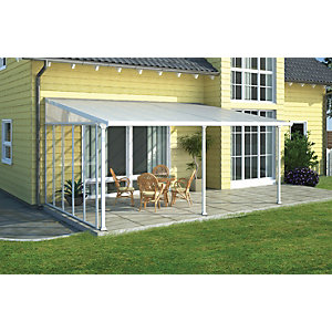 Palram Feria Polycarbonate Patio Canopy White - 2950 x 4250 mm