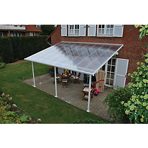 Palram Feria Polycarbonate Patio Canopy White - 2950 x 5460 mm