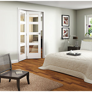 Wickes Ashton Internal Folding Door White Glazed 4 Lite 2 Door 2047mm x 1319mm