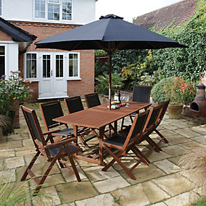 Rowlinson Bali Hardwood Garden Furniture Set