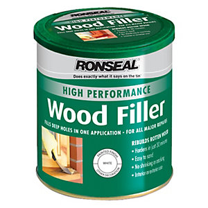 Ronseal High Performance Wood Filler - White 1kg