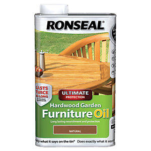 Ronseal Hardwood Furniture Oil Natural Clear 1L