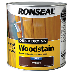 Ronseal Quick Drying Woodstain - Satin Walnut 2.5L