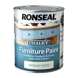 Ronseal Furniture Paint - Vintage White 750ml